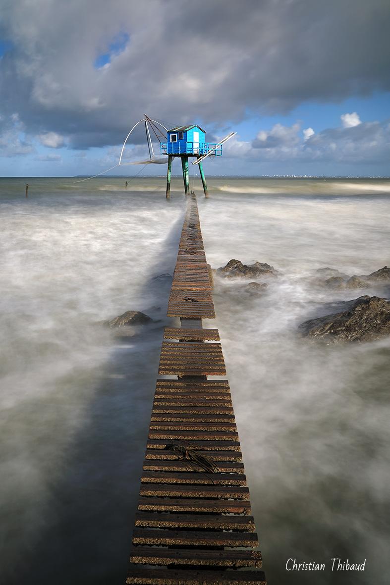 De bleu, le chemin ... (Tharon-Plage)