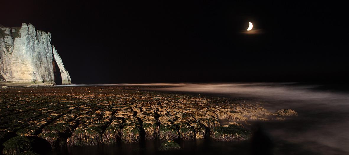 Clair de nuit ... (Etretat)