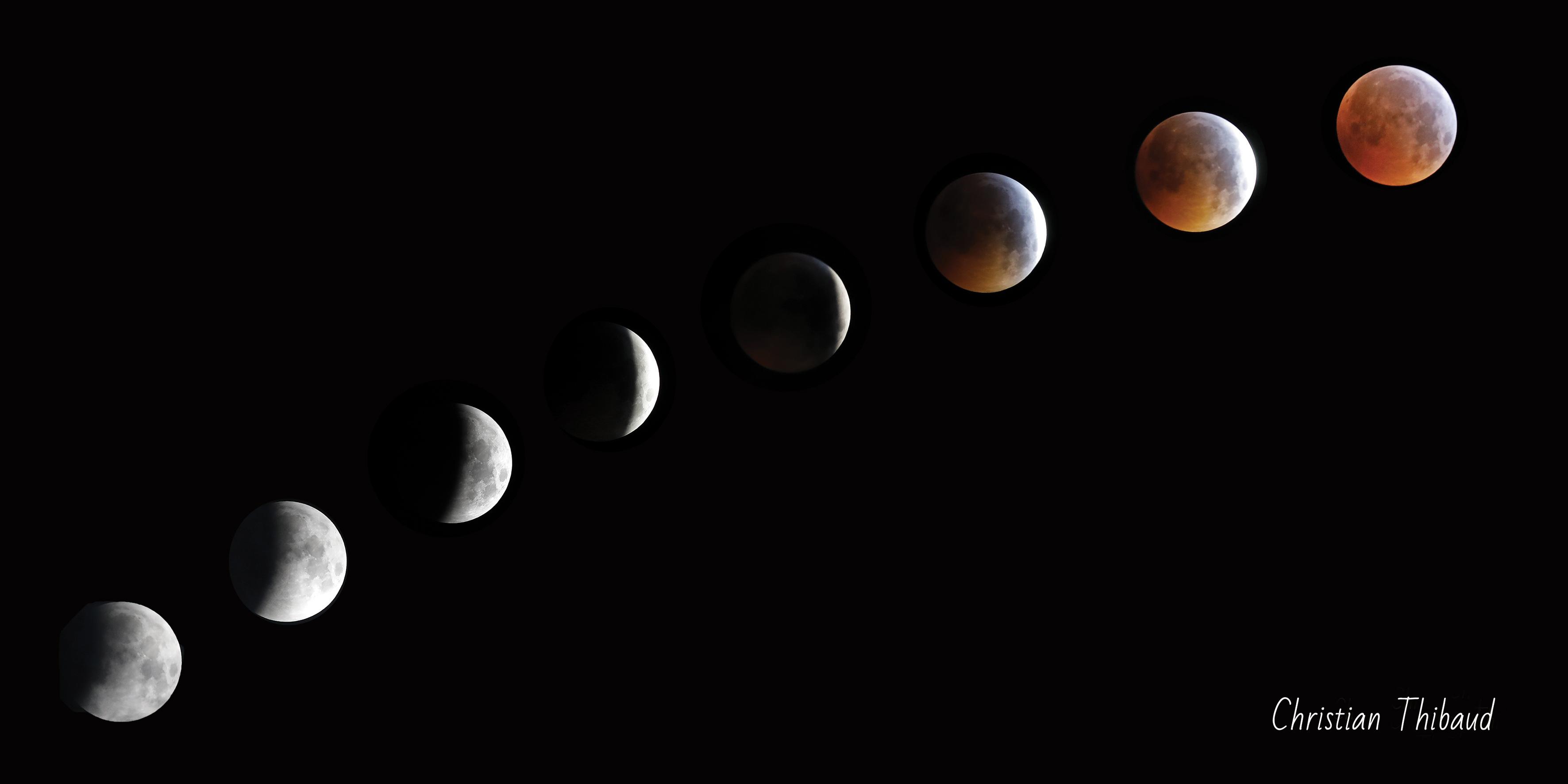 Quand Dame Lune ... s'éclipse ...